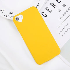 Heart Hollow Silicone iPhone Case