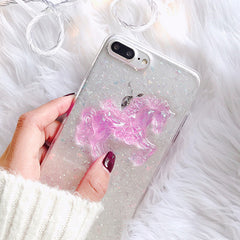 Pink Horse Glitter iPhone Case