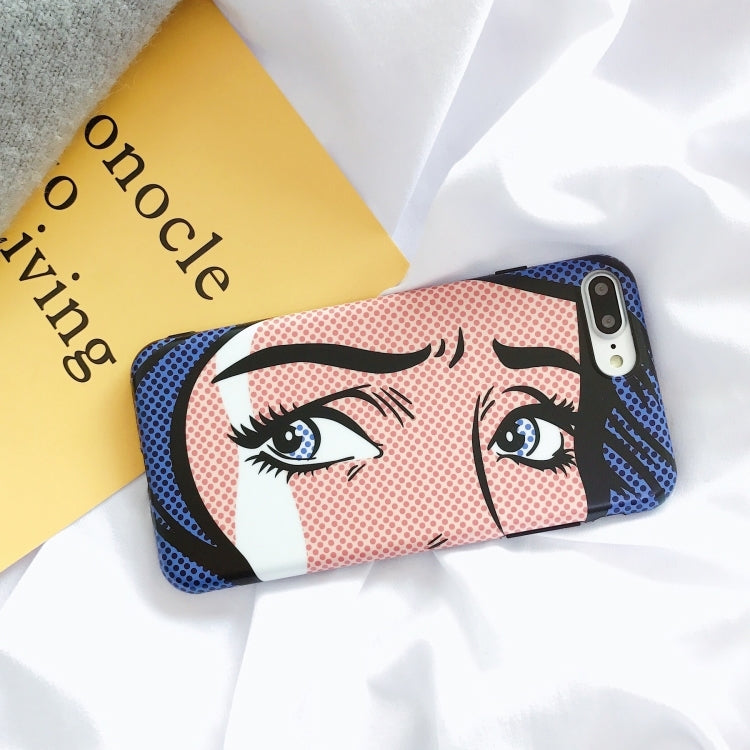 Cartoon Girl Eyes iPhone Case