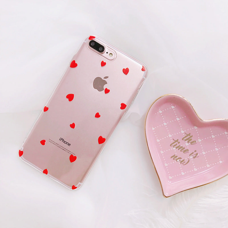 Little Heart Transparent iPhone Case