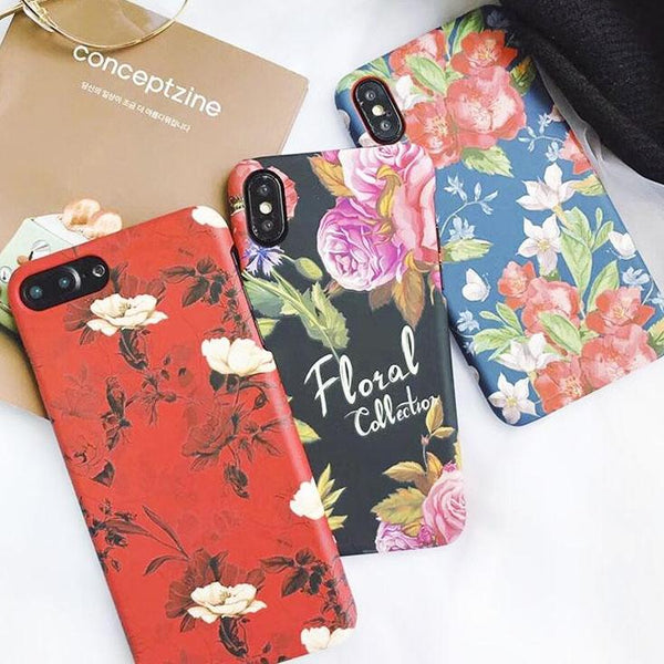 Spring Retro Flowers iPhone Case