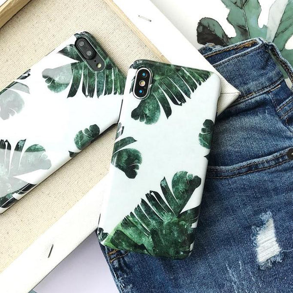 Fresh Green Leaves iPhone Case