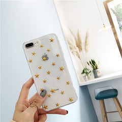 Glitter Stars Transparent iPhone Case