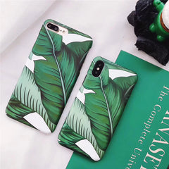 Summer Banana Leaves iPhone Case