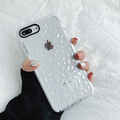 Diamond Pattern Transparent iPhone Case
