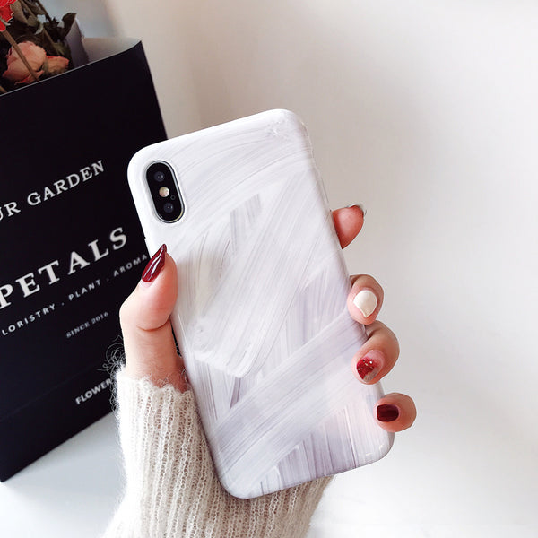 Abstract White Marble iPhone Case
