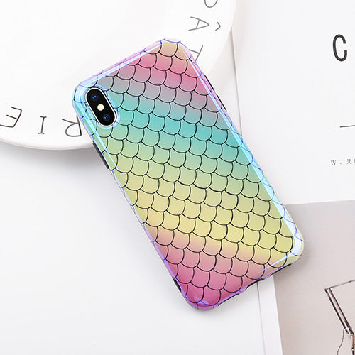 Blu-Ray Laser Fish Scale iPhone Case