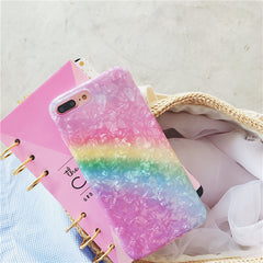 Shiny Rainbow Color iPhone Case