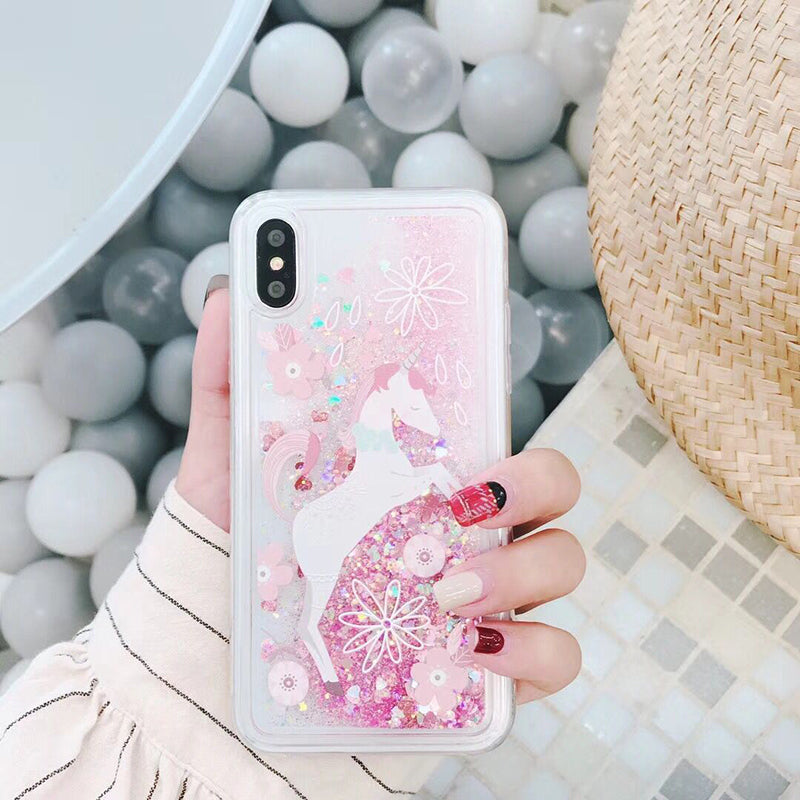 Candy Unicorn Glitter iPhone Case