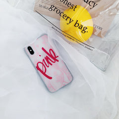 PINK Lace Letter iPhone Case