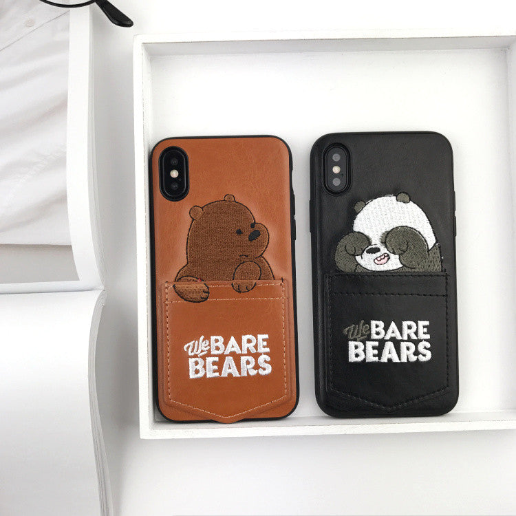 Cartoon Bear Pocket iPhone Case