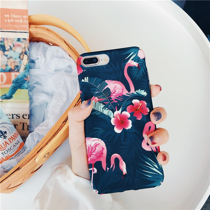 Flower Flamingo iPhone Case