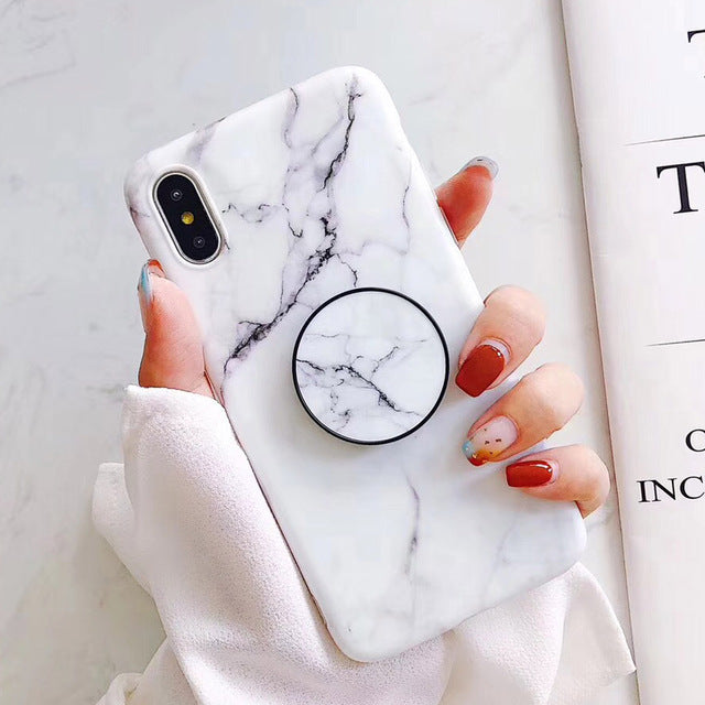 new product d641b ee636 Marble + Holder iPhone Case – Mermaid Case