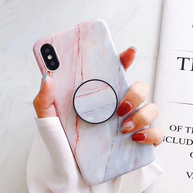 new product 7557e ca109 Marble + Holder iPhone Case – Mermaid Case
