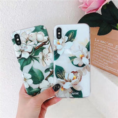 Banana Leaf & Daisy iPhone Case