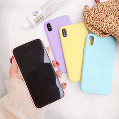 Macaron Colors Soft iPhone Case