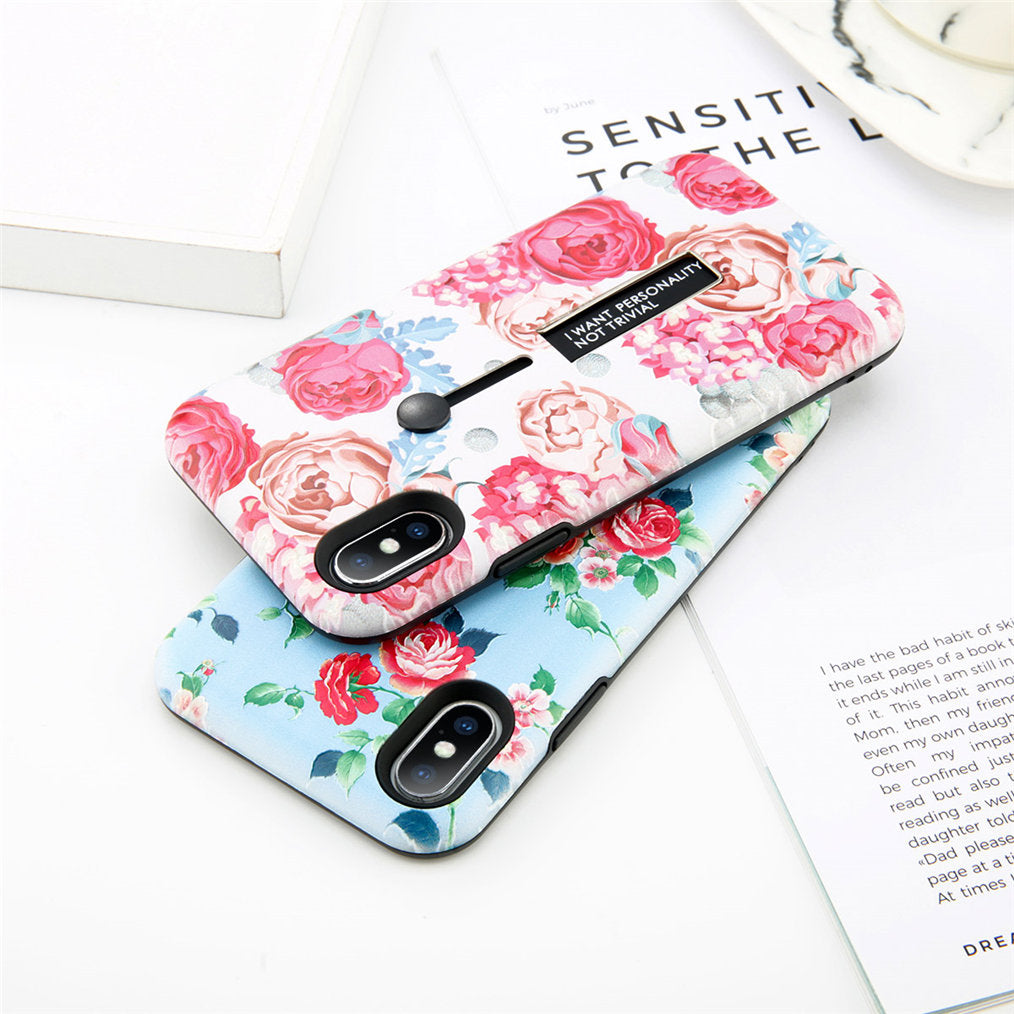 Flower & Marble Holder iPhone Case