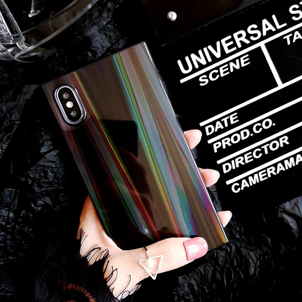 Holo Rainbow Square iPhone Case