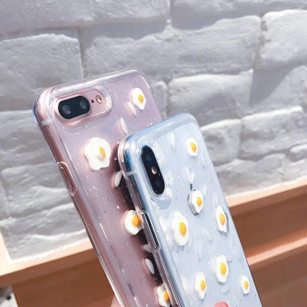 Poached Eggs Transparent iPhone Case