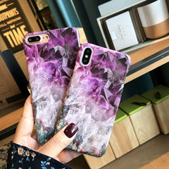 Frosty Purple Marble iPhone Case