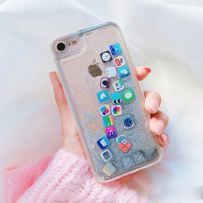 App Glitter Quicksand iPhone Case