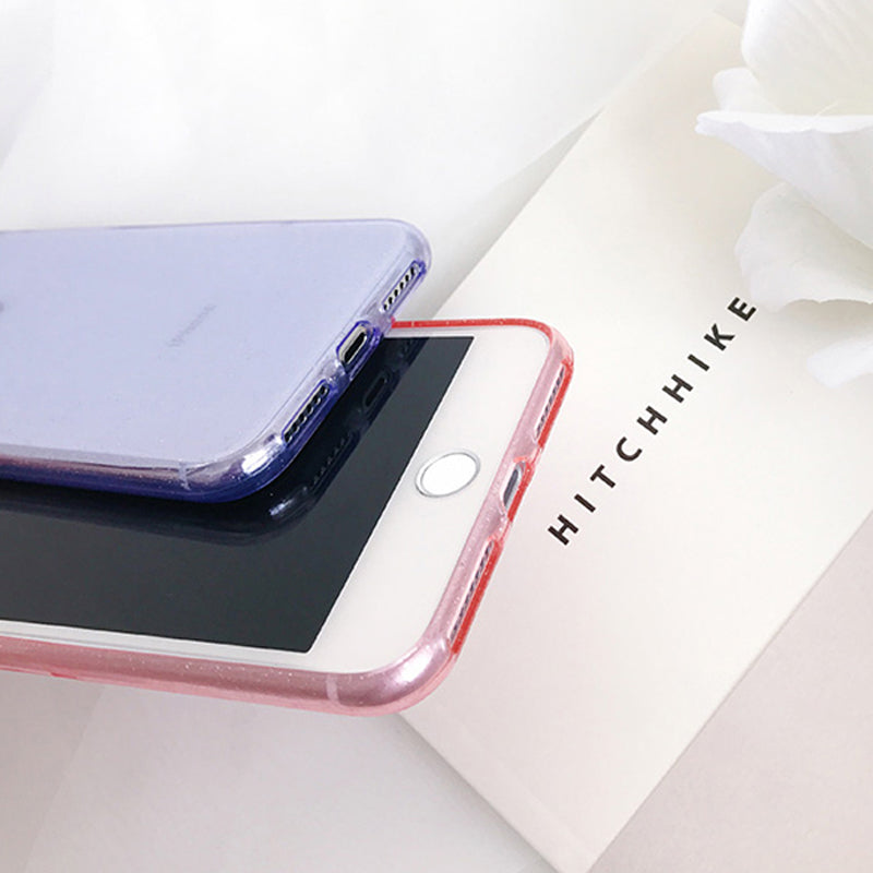 Glitter Soft Transparent iPhone Case