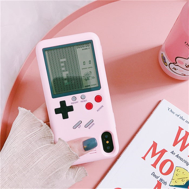 Pink GameBoy iPhone Case