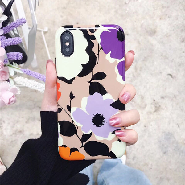 Purple Flower iPhone Case