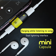 Mini Lightning Adapter Splitter '2 in 1'