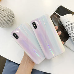 Aurora Holo Marble iPhone Case