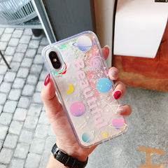 Glitter Space Quicksand iPhone Case
