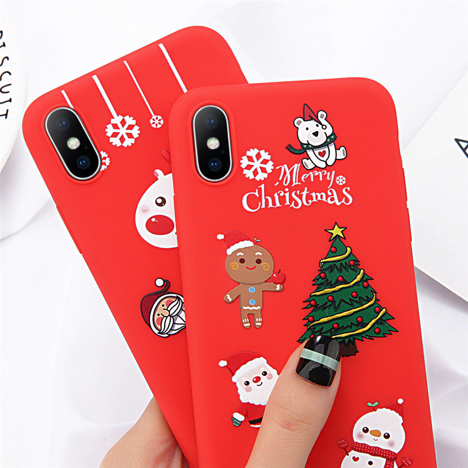 Cartoon Christmas Soft iPhone Case Series