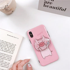 Squishy Pig Glossy iPhone Case