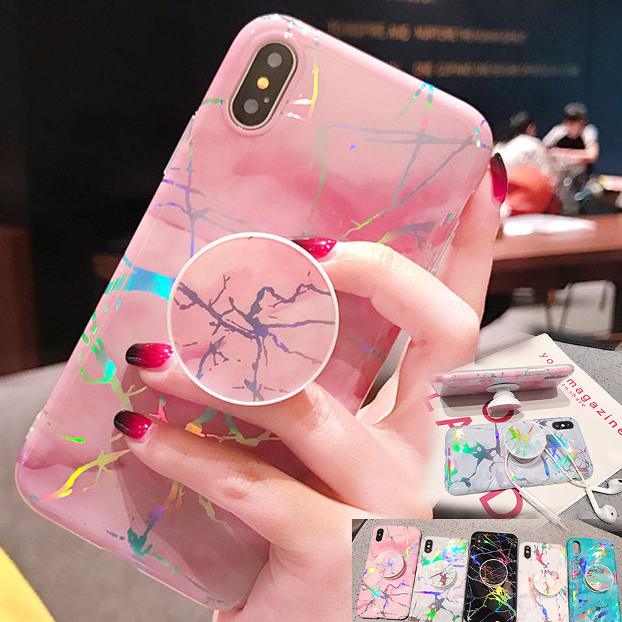 Laser Marble + Holder iPhone Case