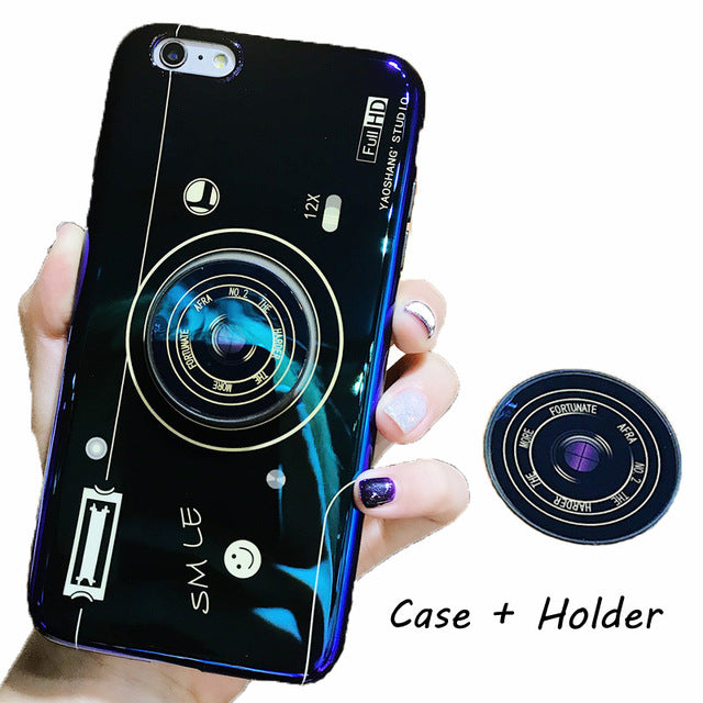 Laser Camera + PopSocket iPhone Case
