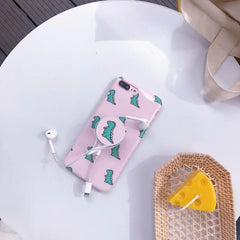 Pink Dinosaur + PopSocket iPhone Case