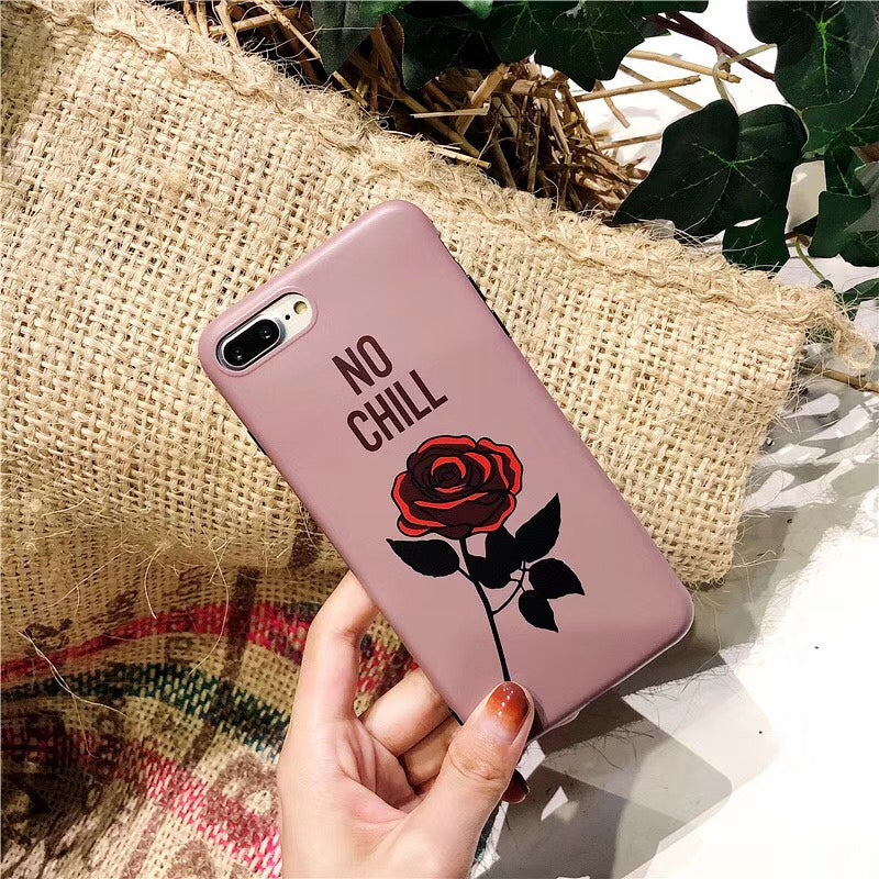 No Chill Rose iPhone Case