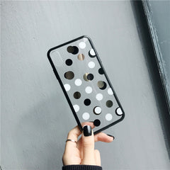 Gold Dots Clear iPhone Case