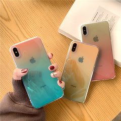 Colorful Gradient Transparent iPhone Case
