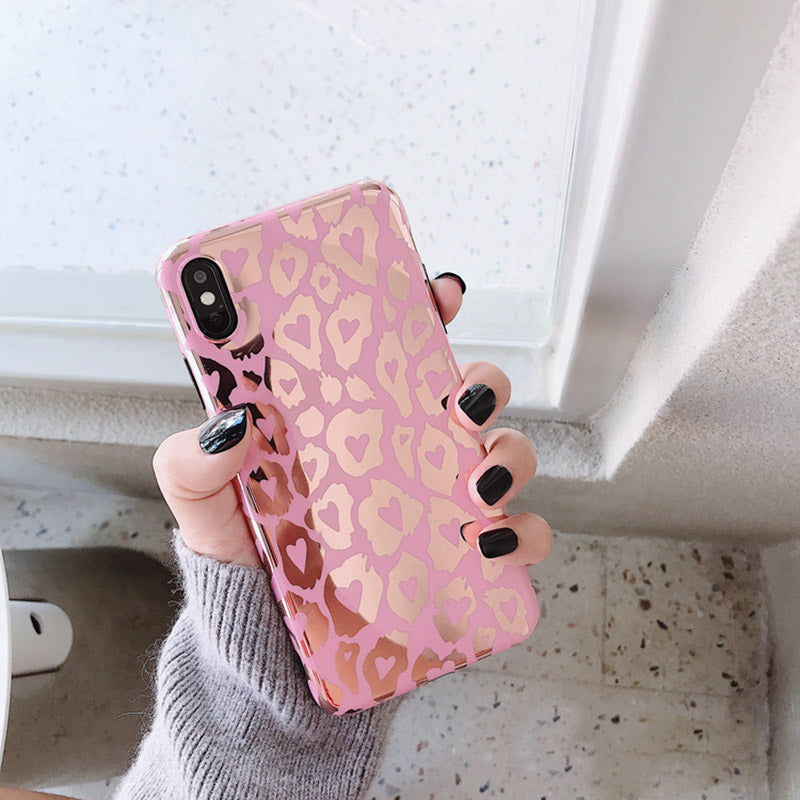 Pink Leopard Mirror iPhone Case