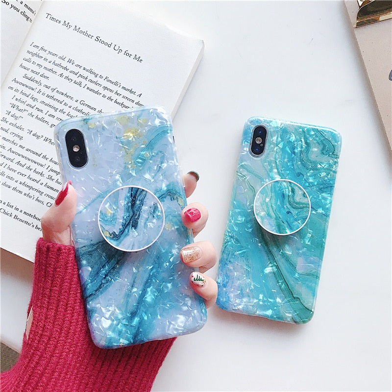Blue Gradient + Holder iPhone Case