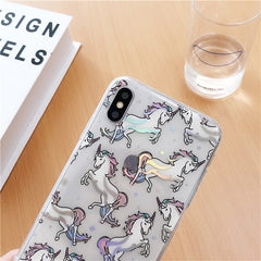 Laser Unicorn iPhone Case