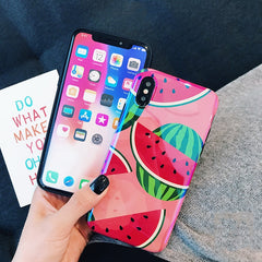 Glossy Summer Fruits iPhone Case