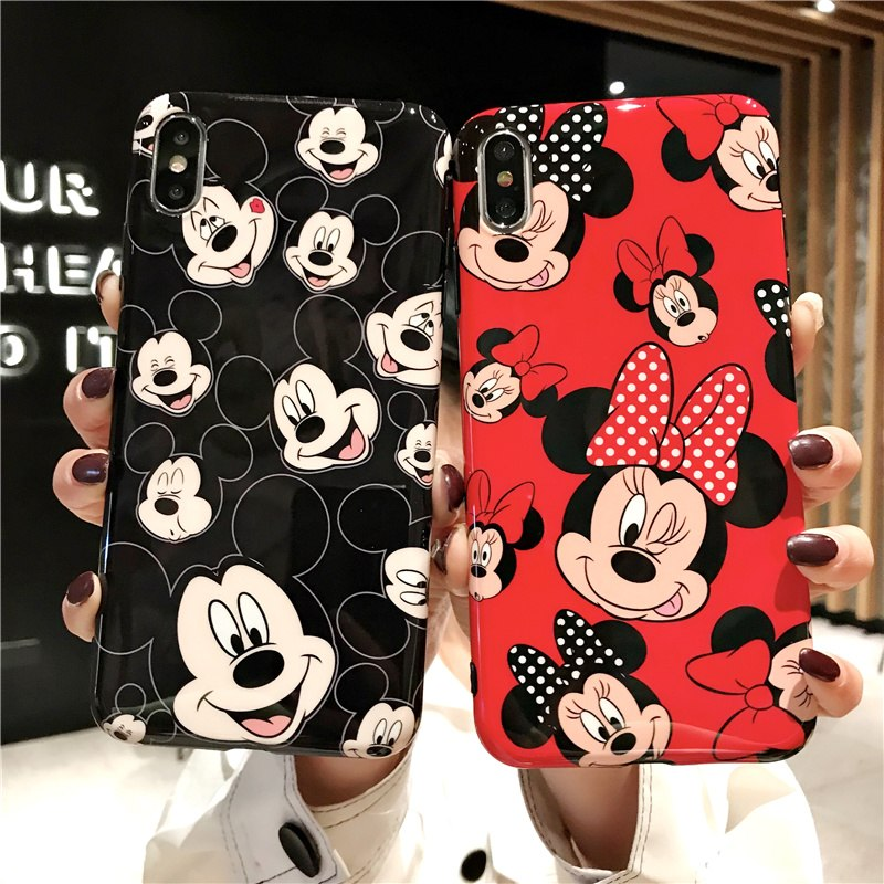 Mickey & Minnie Glossy iPhone Case