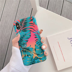Tropical Leaves iPhone Case