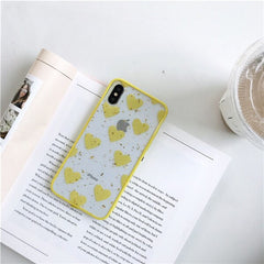Colorful Hearts Transparent iPhone Case