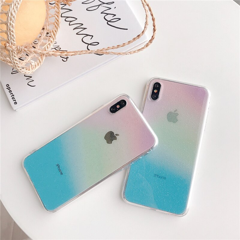 Rainbow Transparent iPhone Case