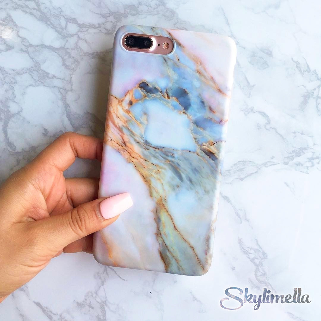 Violet Marble iPhone Case