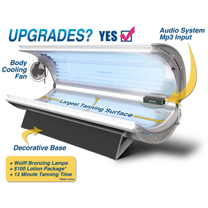 SunFire 32 Deluxe Home Tanning Bed