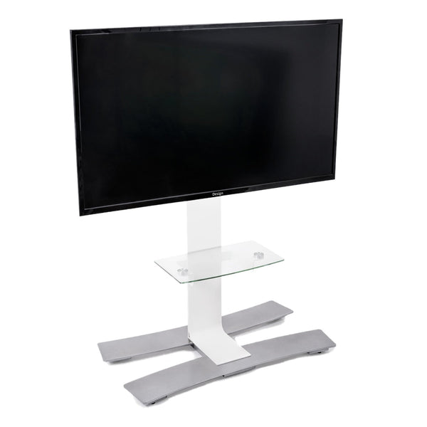 "ERARD WILL™ 1050 L Mobile Stand with Shelf for 30""- 55"" TV Screens - White"